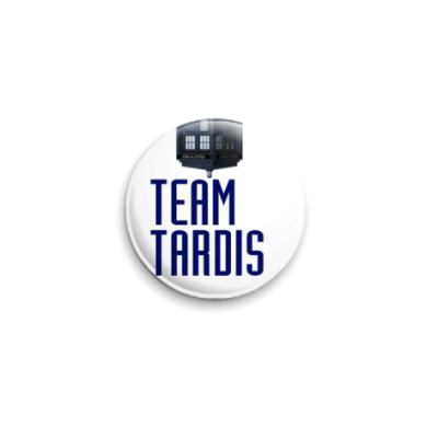 Значок 25мм Team Tardis(WHO31)