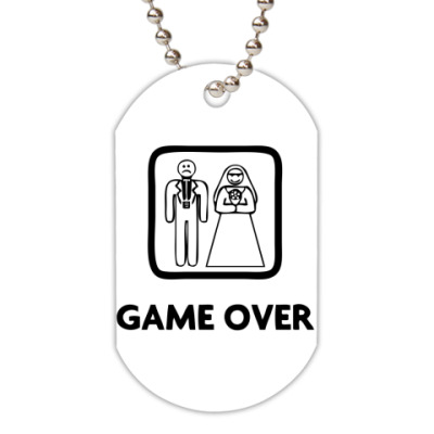 Жетон dog-tag Game Over