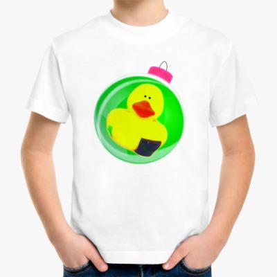 Детская футболка Уточка на шаре
