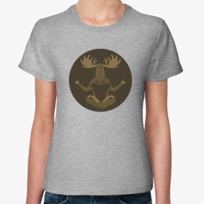 Женская футболка Animal Zen: M is for Moose