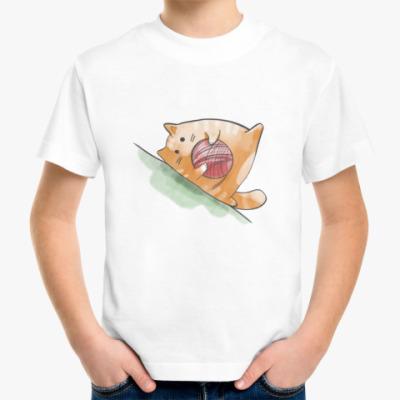 Детская футболка Кот Мягкот, рыжий живот!