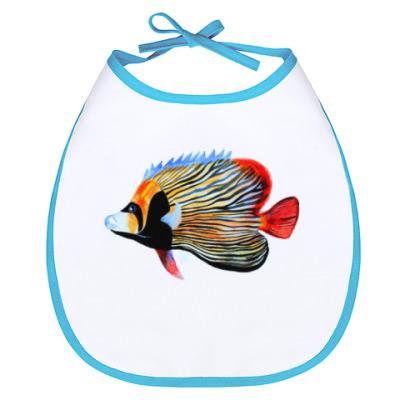Слюнявчик рыбный день