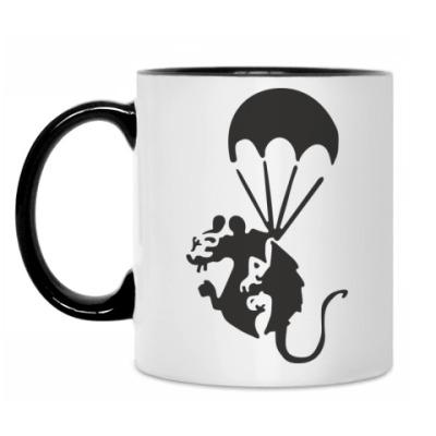 Кружка Крыса на парашюте