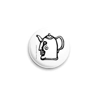 Значок 25мм Чайник