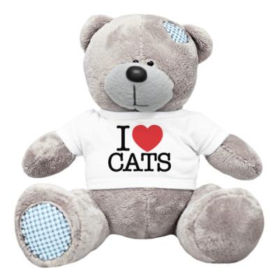 Плюшевый мишка Тедди я Люблю кошек