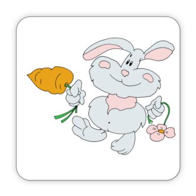 Костер (подставка под кружку) Заяц