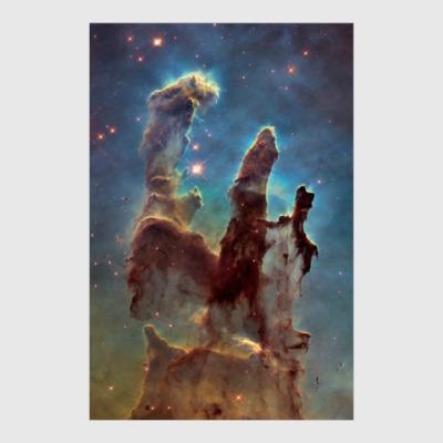 Постер Туманность 'Столпы творения'