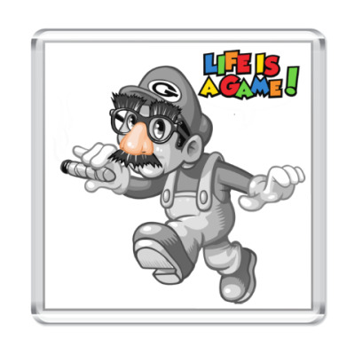 Магнит Марио - жизнь игра