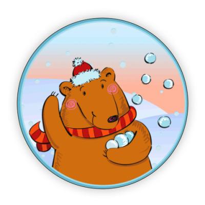 Костер (подставка под кружку) Медведь