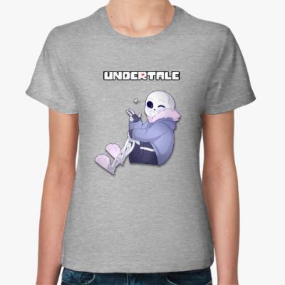 Женская футболка Undertale Sans