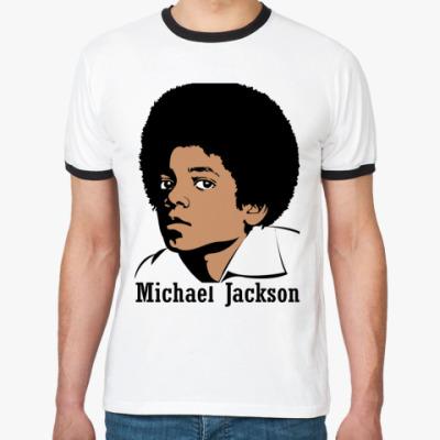 Футболка Ringer-T Майкл Джексон в юности