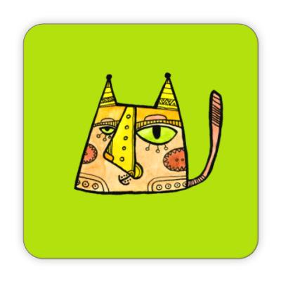 Костер (подставка под кружку) Кот Мурзик