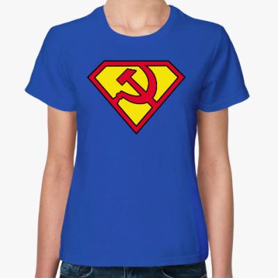 Женская футболка 'Супер Коммунистка!'