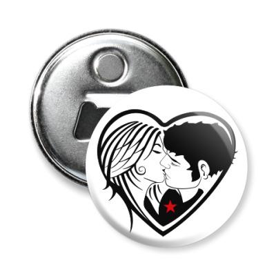 Магнит-открывашка Kiss Forever