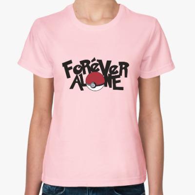 Женская футболка Вечно один