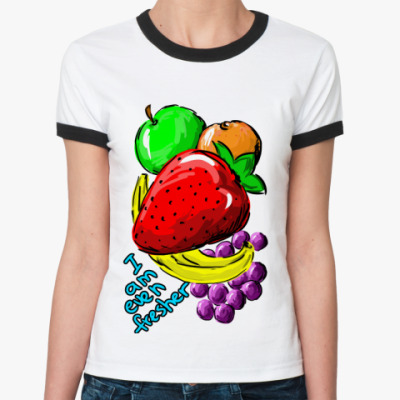 Женская футболка Ringer-T Фрукты