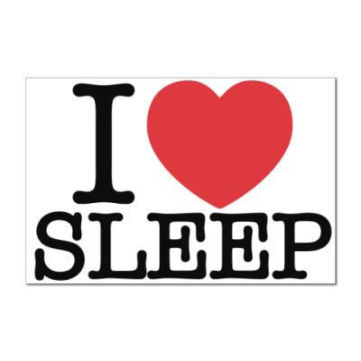 Наклейка (стикер)   I love sleep