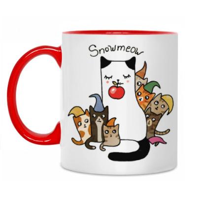 Кружка Сиамская кошка с котятами из сказки для детей