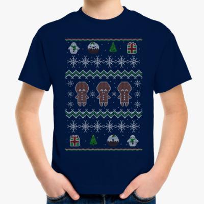 Детская футболка Новогодний узор