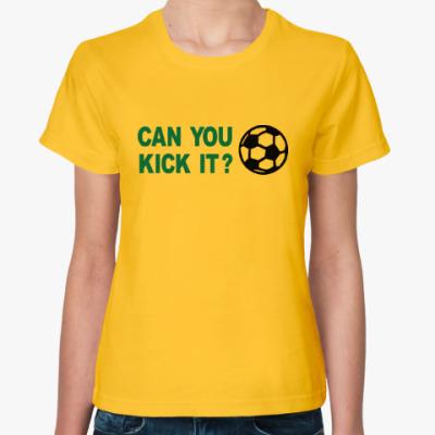 Женская футболка Хочешь ударить?