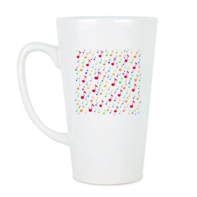 Чашка Латте 'Ноты'