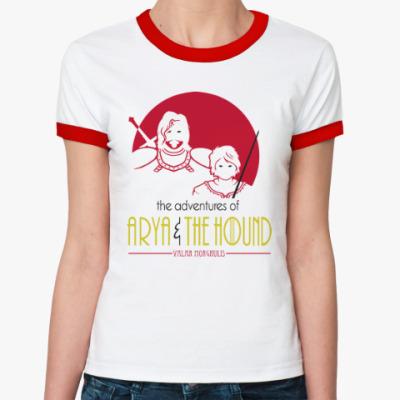 Женская футболка Ringer-T Ария и Пес