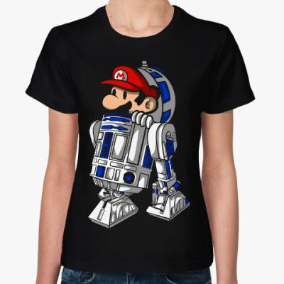 Женская футболка Марио и R2-D2 (Star Wars)