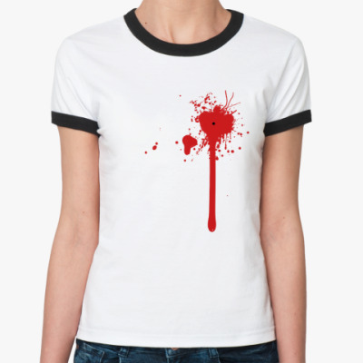 Женская футболка Ringer-T Blood Splash