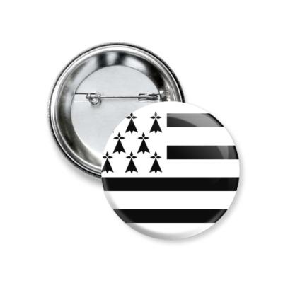 Значок 37мм Breton flag