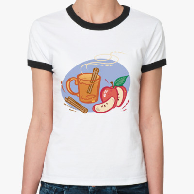 Женская футболка Ringer-T Глинтвейн