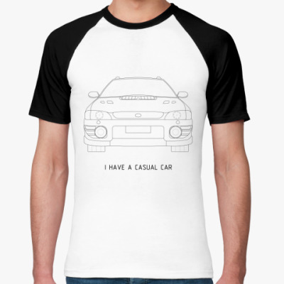 Футболка реглан Casual Car