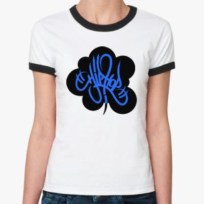 Женская футболка Ringer-T Hip Hop
