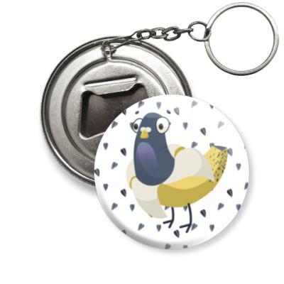 Брелок-открывашка Банано-голубь