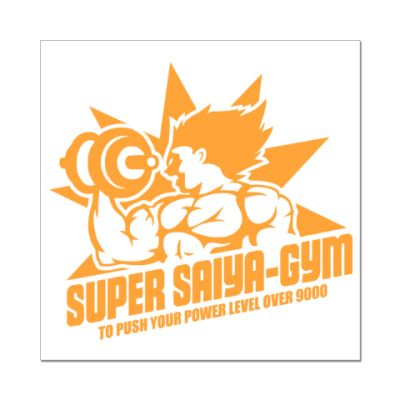 Наклейка (стикер) Saiya gym