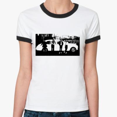 Женская футболка Ringer-T  The Beatles