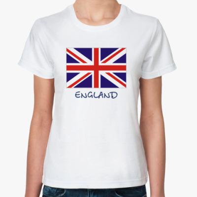 Классическая футболка флаг Англии