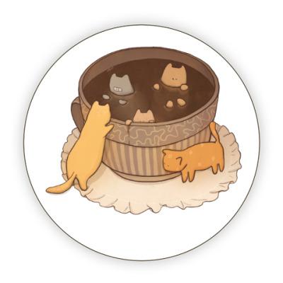 Костер (подставка под кружку) Кофейные коты