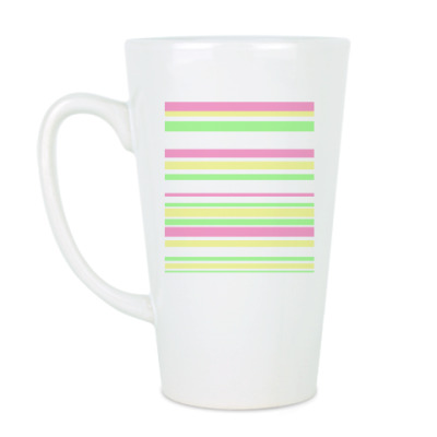 Чашка Латте Полосы