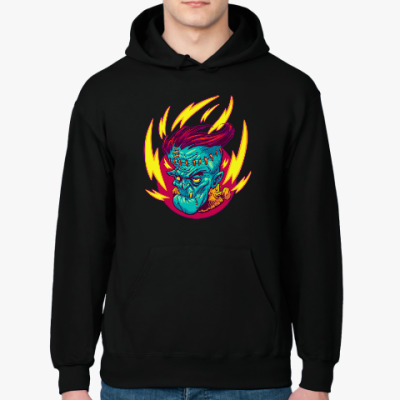 Толстовка худи Франкенштейн в огне