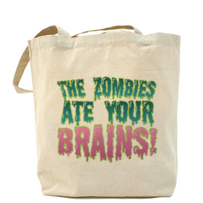 Сумка the Zombie ate your brains!