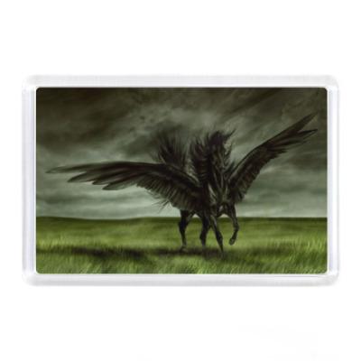 Магнит Черный конь - Пегас