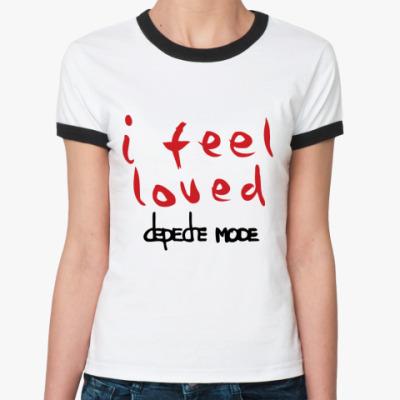Женская футболка Ringer-T I feel loved