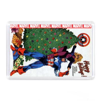 Магнит Marvel Happy Holidays!
