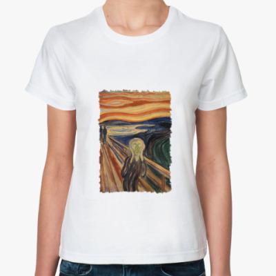Классическая футболка Крик Мунк