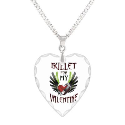 Кулон 'сердце' Bullet for my Valentine