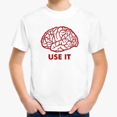 Детская футболка Мозг
