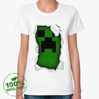 Женская футболка из органик-хлопка Minecraft