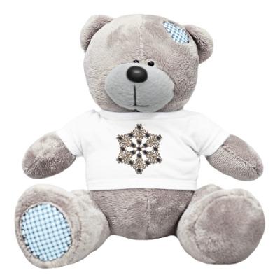 Плюшевый мишка Тедди Снежинка