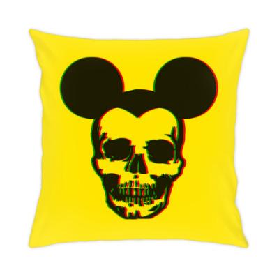 Подушка Mickey Mouse & skull