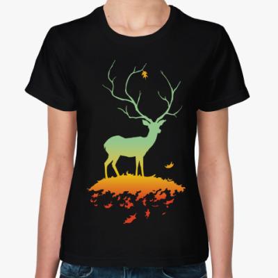 Женская футболка Флора и Фауна (Осень)